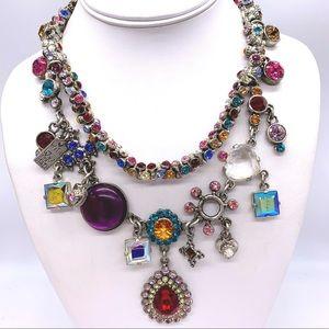 Rodrigo Otazu Ornate Swarovski Crystal Necklace